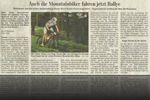 Bericht Saarbrücker Zeitung über MTB-Rallye